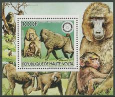 Obervolta 1984 Rotary Int. Steppenpavian Block 92 A Postfrisch (C40159) - Obervolta (1958-1984)