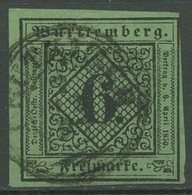 Württemberg 1851 Ziffer In Raute 6 Kreuzer 3 B Gestempelt - Wuerttemberg
