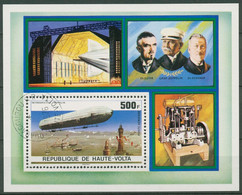 Obervolta 1976 75 Jahre Zeppelin-Luftschiffe Block 42 Gestempelt (C40151) - Obervolta (1958-1984)