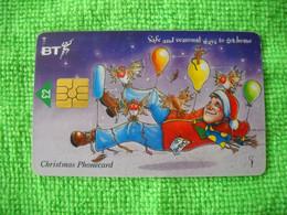 7235 Télécarte Collection Christmas Père Noel   Cadeaux Fête Royaume Uni ( Recto Verso)  Carte Téléphonique - Natale