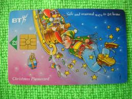 7236 Télécarte Collection Christmas Père Noel Traineau   Cadeaux Fête Royaume Uni ( Recto Verso)  Carte Téléphonique - Natale