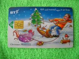 7237 Télécarte Collection Christmas Noel Traineau Dinde   Cadeaux Fête Royaume Uni ( Recto Verso)  Carte Téléphonique - Natale