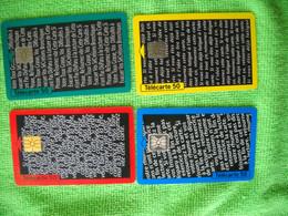 7239 4 Télécartes Collection Laboratoire OBERLIN 50 U ( Recto Verso)  Carte Téléphonique - Pubblicitari