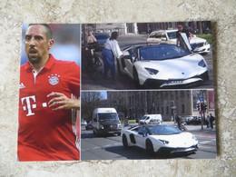 CPM Série Voiture De Star Footballeur FRANCK RIBERY Voiture De Sport Lamborghini - Passenger Cars