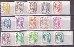 Marianne Ciappa Kawena Série Timbre Adhesif Neuf Luxe ** N°847 à 861 15 Valeurs En Bord De Feuille - 2013-... Marianne Di Ciappa-Kawena