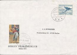 Greenland And Denmark Cover Herlev 13-11-1976 And Frederikshab 14-12-1976 (Herlev Frimaerkeklub) - Cartas
