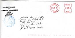 EMA Mairie Ile De Tahiti Ville De Papeete Machine N° SJ 1932 De 2007 - EMA (Print Machine)