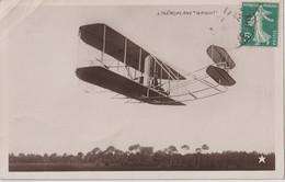 Carte Photo Aviation   L'Aéroplane Wright  En Vol   Edition L'étoile  Procédé  Brillant émail - Aviation