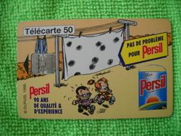 7244 Télécarte Collection PERSIL Qualité Expérience  Spirou     50 U ( Recto Verso)  Carte Téléphonique - Pubblicitari
