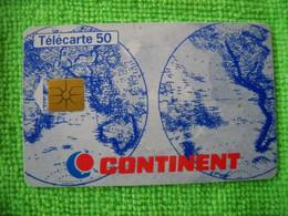 7245 Télécarte Collection CONTINENT  Magasin  Supermarché      50 U ( Recto Verso)  Carte Téléphonique - Pubblicitari