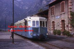 ReproductionPhotographie D'un Train Nice-Digne Chemin De Fer De Fer De Provence Gare La Vésubie En 1963 - Riproduzioni