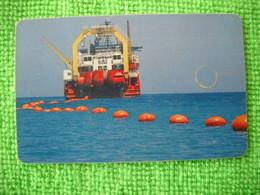 7258 Télécarte Collection BATEAU POSE CABLE SOUS MARIN     ( Recto Verso)  Carte Téléphonique - Barche