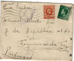 Cover Maritime Mail To Portugal Cherbourg Postalmark - Sin Clasificación