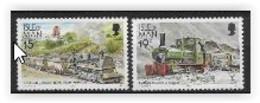 Ile De Man 1990 N° 424/425 Neufs Trains - Man (Insel)