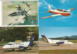 Brazil 4 Postcard EMBRAER Bandeirante Brasília AMX And Tucano Airplane Unused - 1946-....: Modern Era