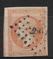 France N°16j Orange Pâle. Cote 22€. - 1853-1860 Napoléon III