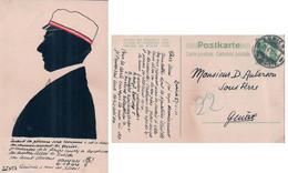 Carte Etudiant Zofingue, Un Etudiant Dessiné Et Coloré Sur Un Entier Postal, Zürich (27.1.1911) - Scuole
