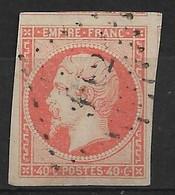 France N°16 Orange . Grandes Marges. Cote 22€. - 1853-1860 Napoléon III