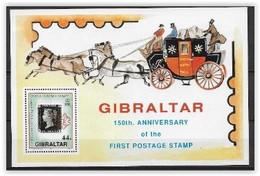 Gibraltar 1990 Bloc N° 14 Neuf 150 Ans Du 1er Timbre - Gibraltar
