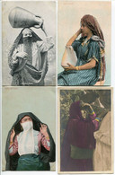 LOT 5 CPA - Femme Arabe (porteuse D'eau) Fille Arabe Femme De Harem Femme Arabe Avec Ses Enfants - Unclassified