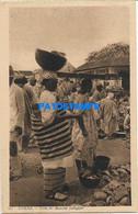 163444 AFRICA DAKAR SENEGAL COSTUMES MARKET NATIVE POSTAL POSTCARD - Unclassified