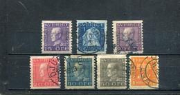 Suède 1920-24 Yt 128 130-132 139 141 145 - Usados