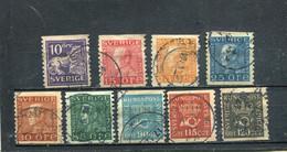 Suède 1925-26 Yt 195-203 - Usados