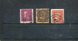 Suède 1929-36 Yt 216 218 220 - Usados