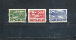 Suède 1935 Yt 229 231-232 - Usados