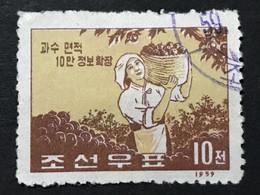 ◆◆◆Korea, North 1959-60  Fruit  , SC#193 ,  10ch USED  AB7109 - Korea (Noord)
