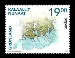 Greenland 2021 Mih. 880 SEPAC. Historical Maps MNH ** - Nuevos