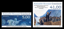 Greenland 2021 Mih. 881/82 Reintroduction Of Christianity. Apostle Hans Egede. Paitning Of Hans Lynge MNH ** - Nuevos
