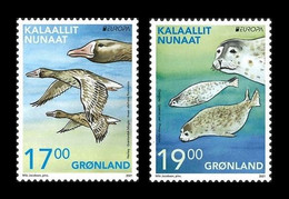 Greenland 2021 Mih. 884/85 Europa. Fauna. National Endangered Wildlife. Geese And Seals MNH ** - Nuevos