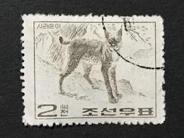 ◆◆◆Korea, North 1964  Wild Animals  , SC#554 ,  2ch USED  AB7114 - Korea (Noord)