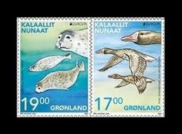 Greenland 2021 Mih. 886/87 Europa. Fauna. National Endangered Wildlife. Geese And Seals (self-adhesive) MNH ** - Nuevos