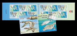 Greenland 2021 Mih. 886/87 Europa. Fauna. National Endangered Wildlife. Geese And Seals (booklet) MNH ** - Nuevos