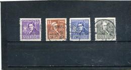 Suède 1939 Yt 275-278 - Usados