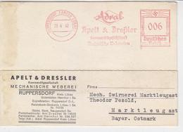 Freistempel Der Mechanischen Weberei ... Aus RUPPERSDORF 28.4.42  Nach  Marklleugast - Covers & Documents