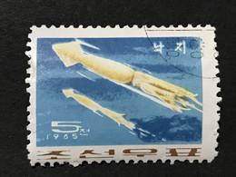 ◆◆◆Korea, North 1965  Mollusks , SC#646  ,  5ch  USED  AB7125 - Korea (Noord)