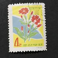 ◆◆◆Korea, North 1966  Korean Wildflowers , SC#672  ,  4ch  USED  AB7126 - Korea (Noord)