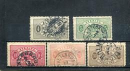Suède 1874-96 Yt 2-3 5 7 9 - Oficiales