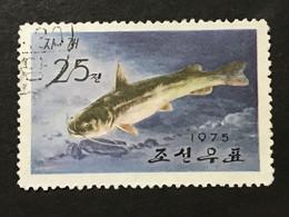 ◆◆◆Korea, North 1975  Fresh-Water Fish  , SC#1346  ,  25ch  USED  AB7131 - Korea (Noord)