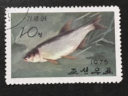 ◆◆◆Korea, North 1975  Fresh-Water Fish  , SC#1343  ,  10ch  USED  AB7132 - Korea (Noord)