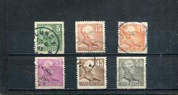 Suède 1939-42 Yt 259 261b 261B 263 265 265A - Usados