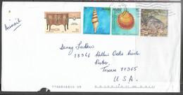 Malta  2005 Cover With 2 Seashells, 1 Bird, & 1 Antique Furniture Stamp  NEAT - Malta
