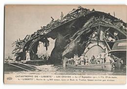 ELD Toulon Rare Les Marins Arrivent Sur Les épaves Du LIBERTE 1911 CATASTROPHE MILITAIRE 400 MORTS  ELD PARIS N328 - Rampen
