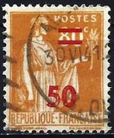 France 1941 - Mi 483 - YT 481 ( Peace Overprint ) - Usati