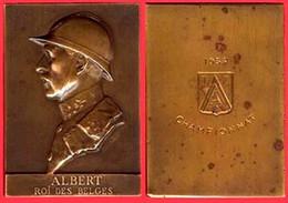 ** PLAQUE  ALBERT  -  ROI  Des  BELGES  -  CHAMPIONNAT  1935 ** - Royal / Of Nobility