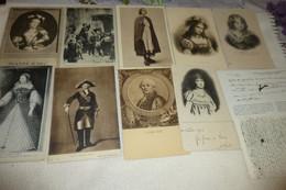 """LOT DE 11 CARTES """"HISTOIRE""""....PERSONNAGES..JEANNE D'ARC..LOUIS XVIII..ETC - 5 - 99 Cartoline"""