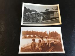 2 X Photo - 1917 - Foret De LA JOUX (Jura) Barraquements Bucherons Canadiens - Plaatsen